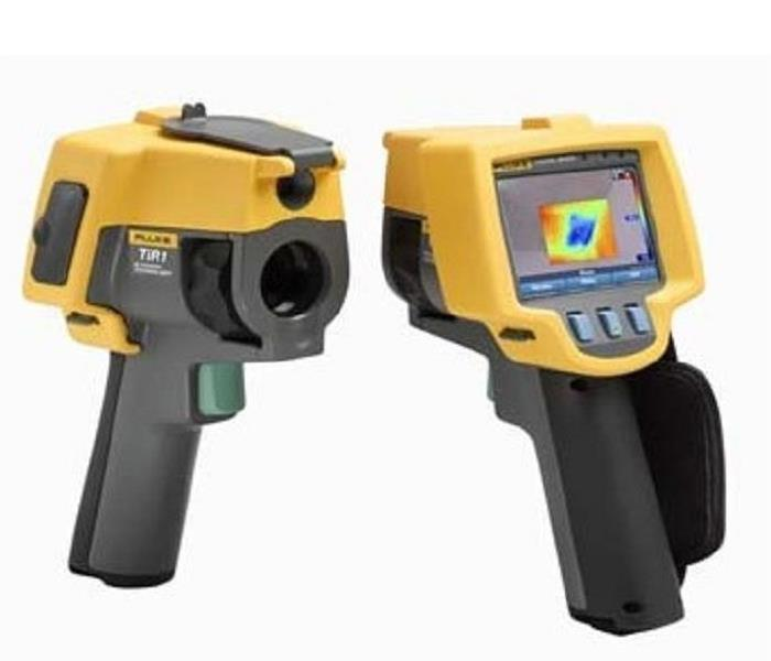 Thermal imaging camera used to locate mold in a property